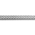 Patterned Strip - 935 Sterling Silver - Knotted Rope with Edge - 6 Inches