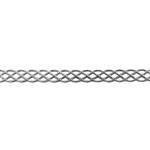 Patterned Strip - 935 Sterling Silver - Knotted Rope - 6 Inches