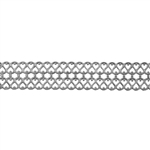 Patterned Strip - 935 Sterling Silver - Double Serpentine Small - 6 Inches
