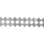 Patterned Strip - 935 Sterling Silver - Checkers 26 gauge - 6 Inches