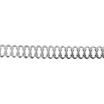 Patterned Strip - 935 Sterling Silver - Woven 24 gauge - 6 Inches