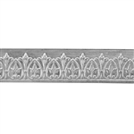 Patterned Strip - 935 Sterling Silver - Crowned Jewel 22 gauge - 6 Inches