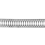 Patterned Strip - 935 Sterling Silver - Woven Edges 22 gauge - 6 Inches