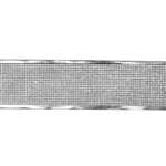 Patterned Strip - 935 Sterling Silver - Edged Screen 20 gauge - 6 Inches