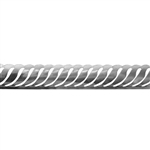 Patterned Strip - 935 Sterling Silver - Waves 24 gauge - 6 Inches