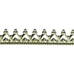 Bezel Wire - Brass - Gallery #10 - 24 gauge - 6""