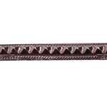 Patterned Wire - Copper - Studded Ribbon 18 gauge Dead Soft - 6""