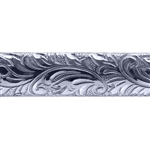 Patterned Wire -Sterling Silver - Garden Flourish 7.5mm 9 gauge Dead Soft - 6""
