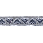 Patterned Wire - Sterling Silver - Stamped Heart 6mm 20 gauge Dead Soft - 6""
