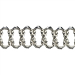 Patterned Wire - Sterling Silver - Woven 3.5 mm 24 gauge Dead Soft - 6""