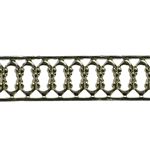 Patterned Wire - Brass - Woven Edges 26 gauge Dead Soft - 6""