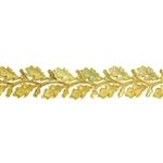 Patterned Strip - Brass - Leaves #3 - 6 inches