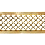 Patterned Strip - Brass - Beaded Crosshatch - 6 inches