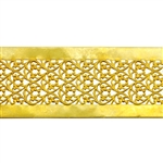 Patterned Wire - Brass - Floral Ribbon 22 gauge Dead Soft - 6""