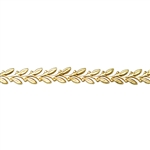 Patterned Wire - Brass - Leaves 22 gauge Dead Soft - 6""