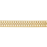 Patterned Wire - Brass - Double Crown with Edging 22 gauge Dead Soft - 6""