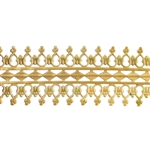 Patterned Wire - Brass - Double Beaded #1 22 gauge Dead Soft - 6""