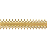 Patterned Strip - Brass - Double Gallery #2 - 6 inches