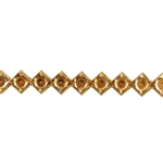 Patterned Wire - Brass - Dotted Diamond 18 gauge Dead Soft - 6""