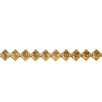 Patterned Wire - Brass - Jeweled Diamond 18 gauge Dead Soft - 6""