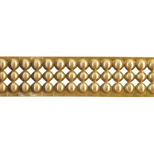 Patterned Wire - Brass - Round Stud 16 gauge Dead Soft - 6""