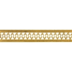 Patterned Wire - Brass - Serpentine with Edging 22 gauge Dead Soft - 6""