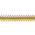 Patterned Strip - Brass - Double Gallery #2 Small 24 gauge - 6 inches
