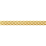 Patterned Strip - Brass - Knotted Rope 22 gauge - 6 inches