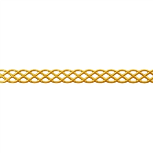 Patterned Wire - Brass - Knotted Rope 22 gauge Dead Soft - 6""