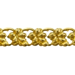 Patterned Strip - Brass - Leaf Link 20 gauge - 6 inches