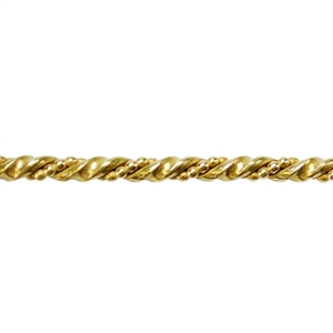Patterned Wire - Brass - Double Twisted 6 gauge Dead Soft - 6""