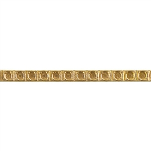Patterned Wire - Brass - Dotted Square 16 gauge - 6 inches