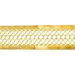 Patterned Strip - Brass - Double Serpentine with Edging 24 gauge - 6 inches