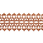 Patterned Strip - Copper - Hammered Lacy Filigree 18 gauge - 6 inches