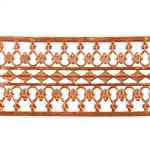 Patterned Wire - Copper - Beaded Ribbon 26 gauge Dead Soft - 6""