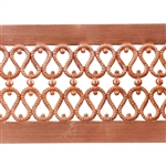 Patterned Strip - Copper - Double Serpentine Hammered with Edging 22 gauge - 6 inches