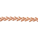 Patterned Strip - Copper - Leaves #1 - 6 inches