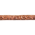 Patterned Wire - Copper - Leaves & Swirls 8 gauge Dead Soft - 6""