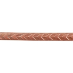 Patterned Wire - Copper - Chevron 14 gauge Dead Soft - 6""