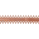 Patterned Wire - Copper - Double Gallery #2 22 gauge Dead Soft - 6""