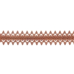Patterned Wire - Copper - Double Gallery #2 Small 24 gauge Dead Soft - 6""