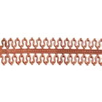 Patterned Wire - Copper - Double Loop #1 20 gauge Dead Soft - 6""