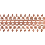Patterned Wire - Copper - Double Beaded #1 22 gauge Dead Soft - 6""