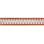Patterned Strip - Copper - Serpentine with Edging - 6 inches