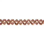 Patterned Strip - Copper - Woven Flowers - 6 inches