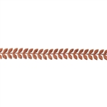 Patterned Strip - Copper - Leaves #4 - 6 inches