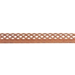 Patterned Wire - Copper - Knotted Rope with Edge 22 gauge Dead Soft - 6""