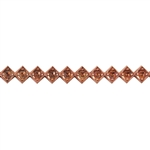 Patterned Strip - Copper - Jeweled Diamond - 6 inches
