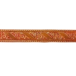 Patterned Strip - Copper - Flower Ribbon 14 gauge - 6 inches