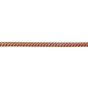 Patterned Wire - Copper - Rope #1 18 gauge Dead Soft - 6""